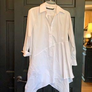 Zara white oversized flowy dress XS